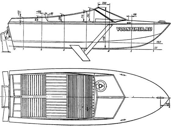 лодка прогресс с подводными крыльями
