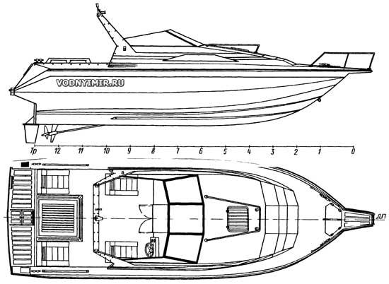 Общий вид катера «Гольфстрим»