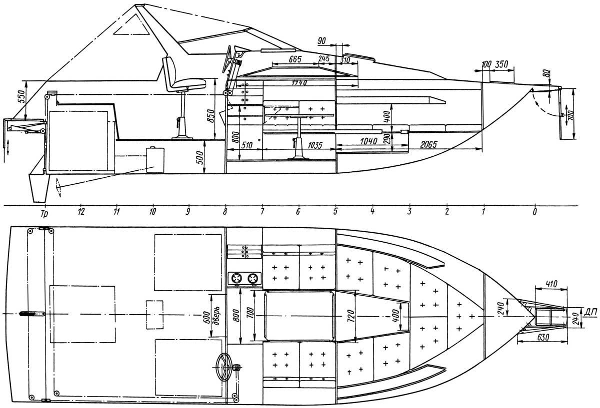 чертеж катера на радиоуправлении