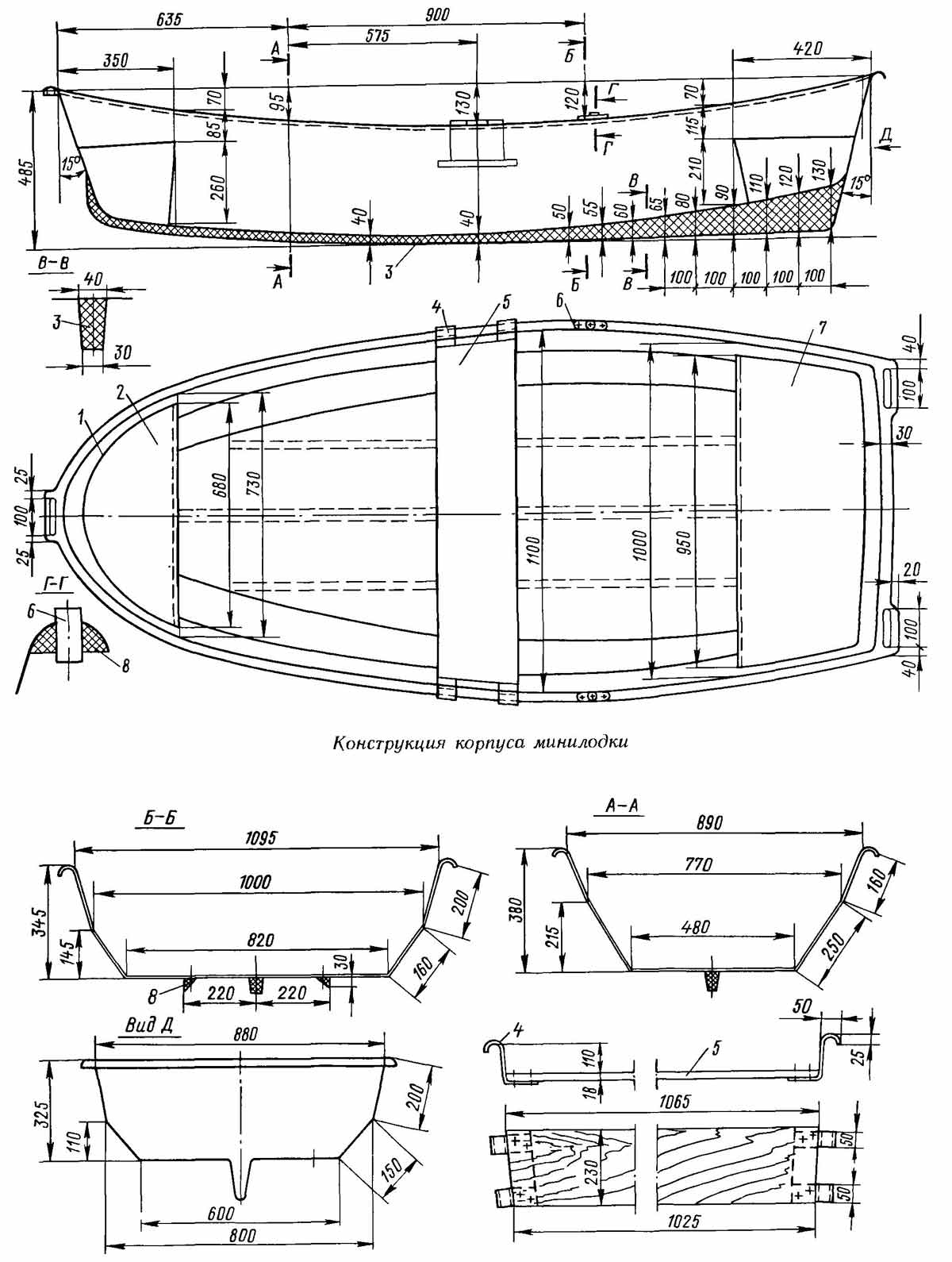 конструкции корпусов лодок