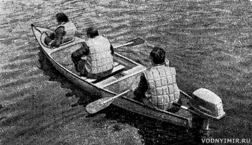 Универсальная лодка — секционное каноэ из стеклопластика