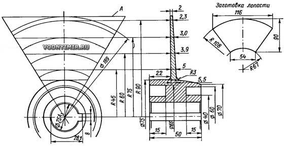 Самодельный водомет для лодки своими руками: чертеж 94