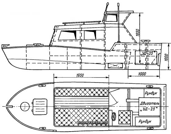 Деревянные катера 172