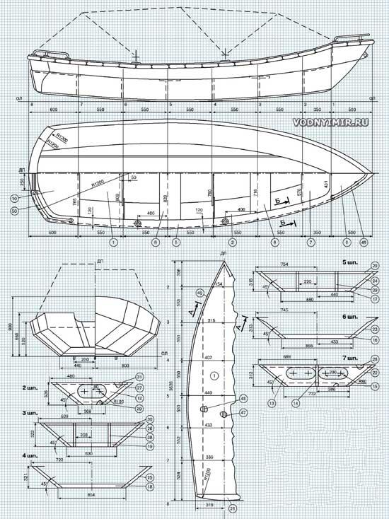 чертеж план лодки