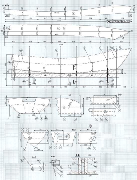 Лодка из фанеры своими руками чертежи и