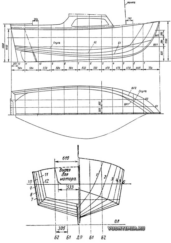 Катера и яхты своими руками чертежи