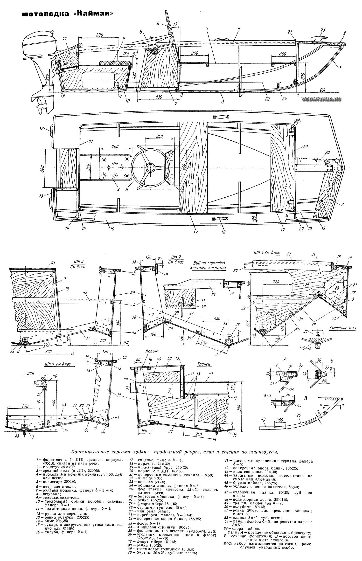 Для самостоятельной постройки тримарана