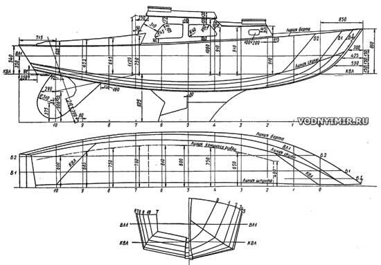 чертежи для постройки катера