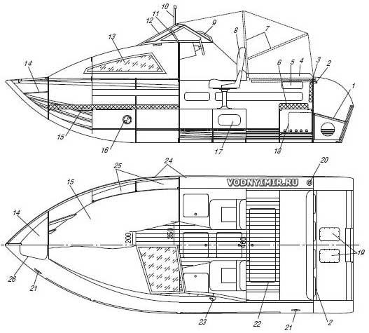 Общий вид мотолодки «Север 520»