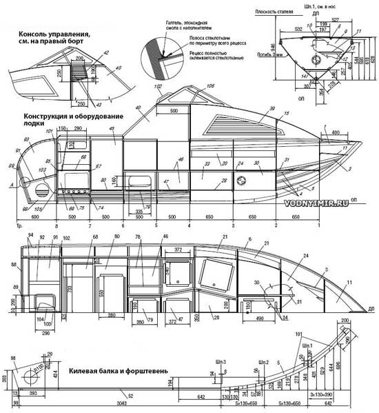 Конструкция и оборудование лодки «Север 520»