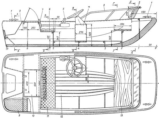 чертежи для лодки 255