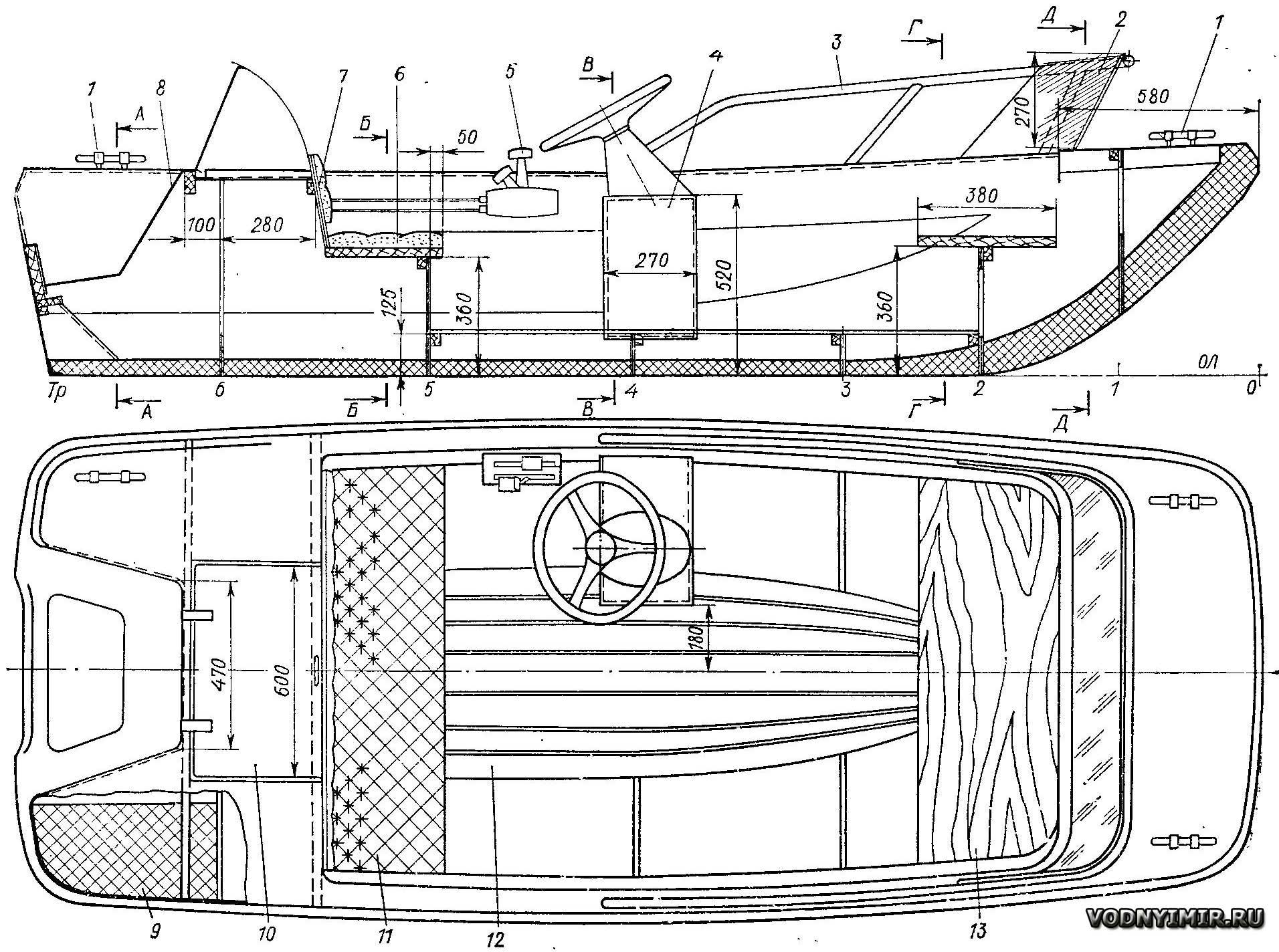 чертежи гребных лодок для самостоятельной постройки стеклопластик