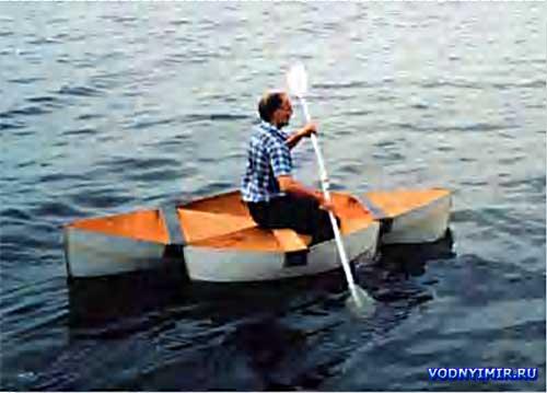 лодка на своем ходу