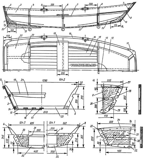 постройка гребных лодок из фанеры