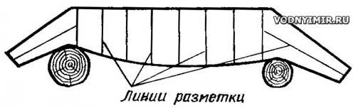 Отбивка разметочных линий на корпусе