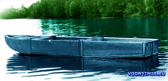 Самодельная разборная лодка из фанеры