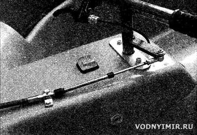 Руль катера на воздушной подушке — мотоциклетного типа