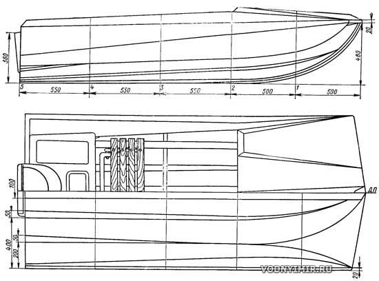 чертеж лодки ротан
