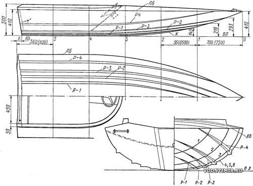катера для рыбалки схема