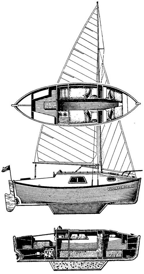 Яхта из спасательной шлюпки
