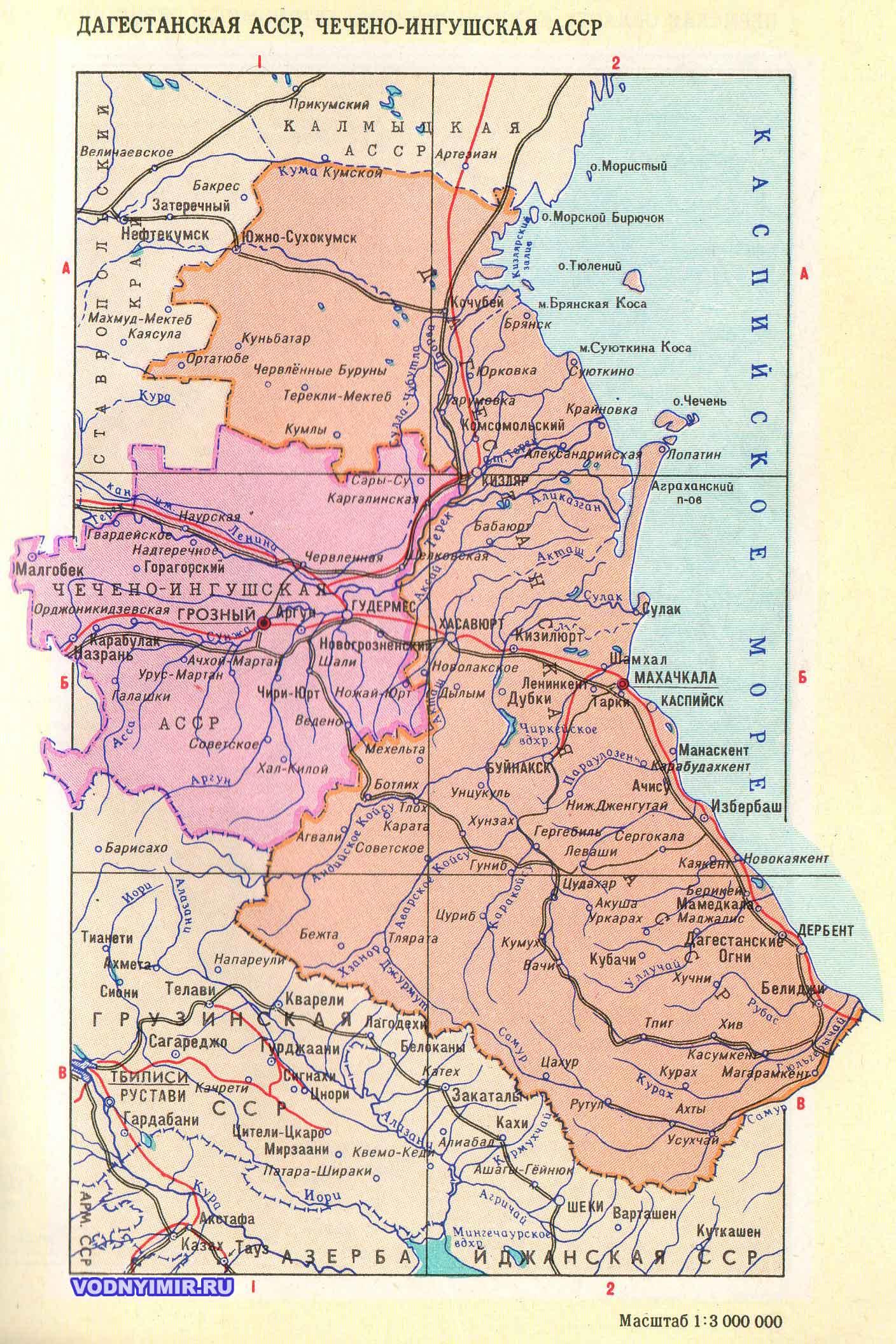 Карта кавказа карты северного