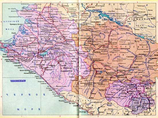 Карта Краснодарского