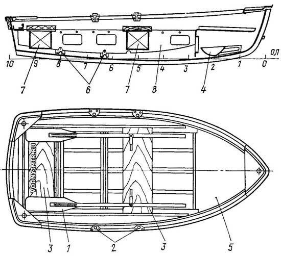 Торг уместен. грн.  Дюралевая 2-3 местная гребная лодка для охотников и рыболовов.  В комплекте - тележка для...