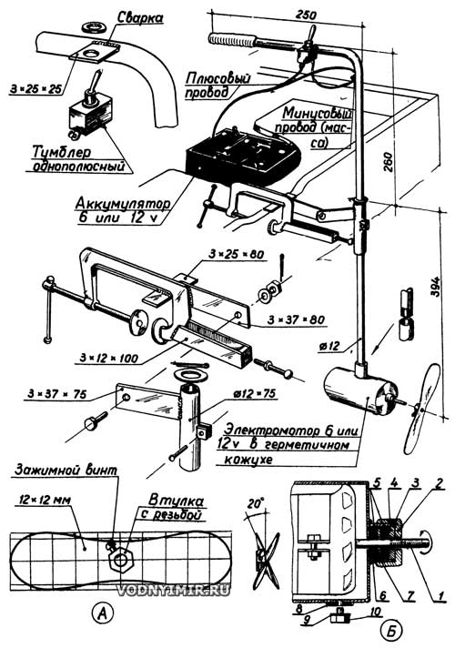 из чего сделать лодочный мотор своими руками