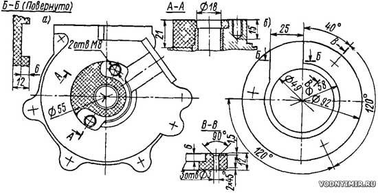 Доработка нижней части картера и текстолитовое кольцо
