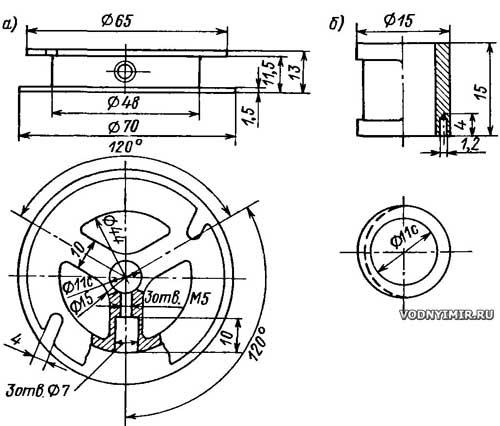 Маховик и кулачок мотора