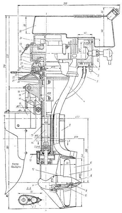 Лодочный мотор из бензопилы своими руками чертежи 8
