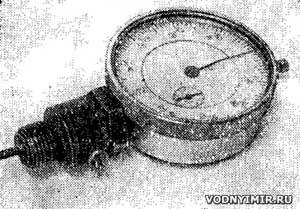 Рис. 4. Индикатор для замера перемещения поршня.