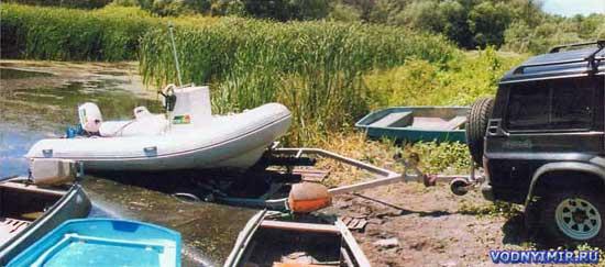 Надувная лодка из ПВХ с рулевой консолью
