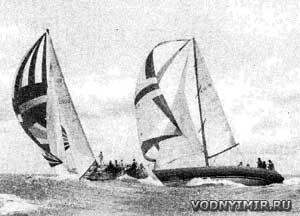 Яхты «Вилливав» и «Уин-на-Мара IV» в свежий бриз