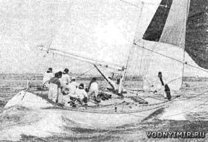 «Морнинг Клауд», занявшая 43-е место с учетом гандикапа, подходит к финишу