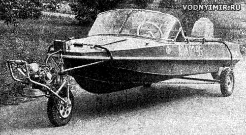 Самоходные лодки на колесах своими руками