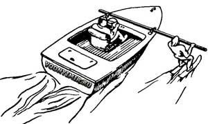 Рис. 9. Простейший вариант тренажера, смонтированного на мощном катере.