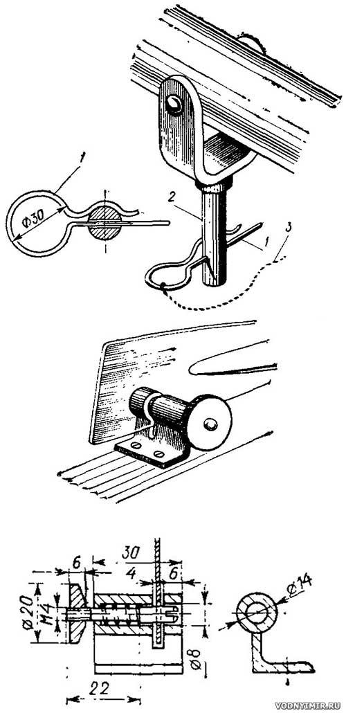 чертеж уключин для лодки