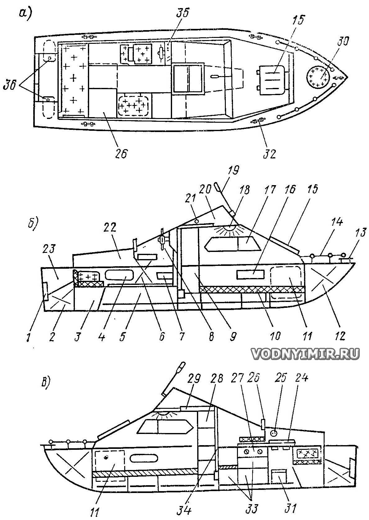 схема лодки прогресс 4